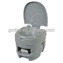 Hot selling 10L western hospital mobile wc camping outdoor portable plastic camera toilet