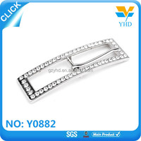 cheap round rhinestone slide buckle for wedding chair covers
