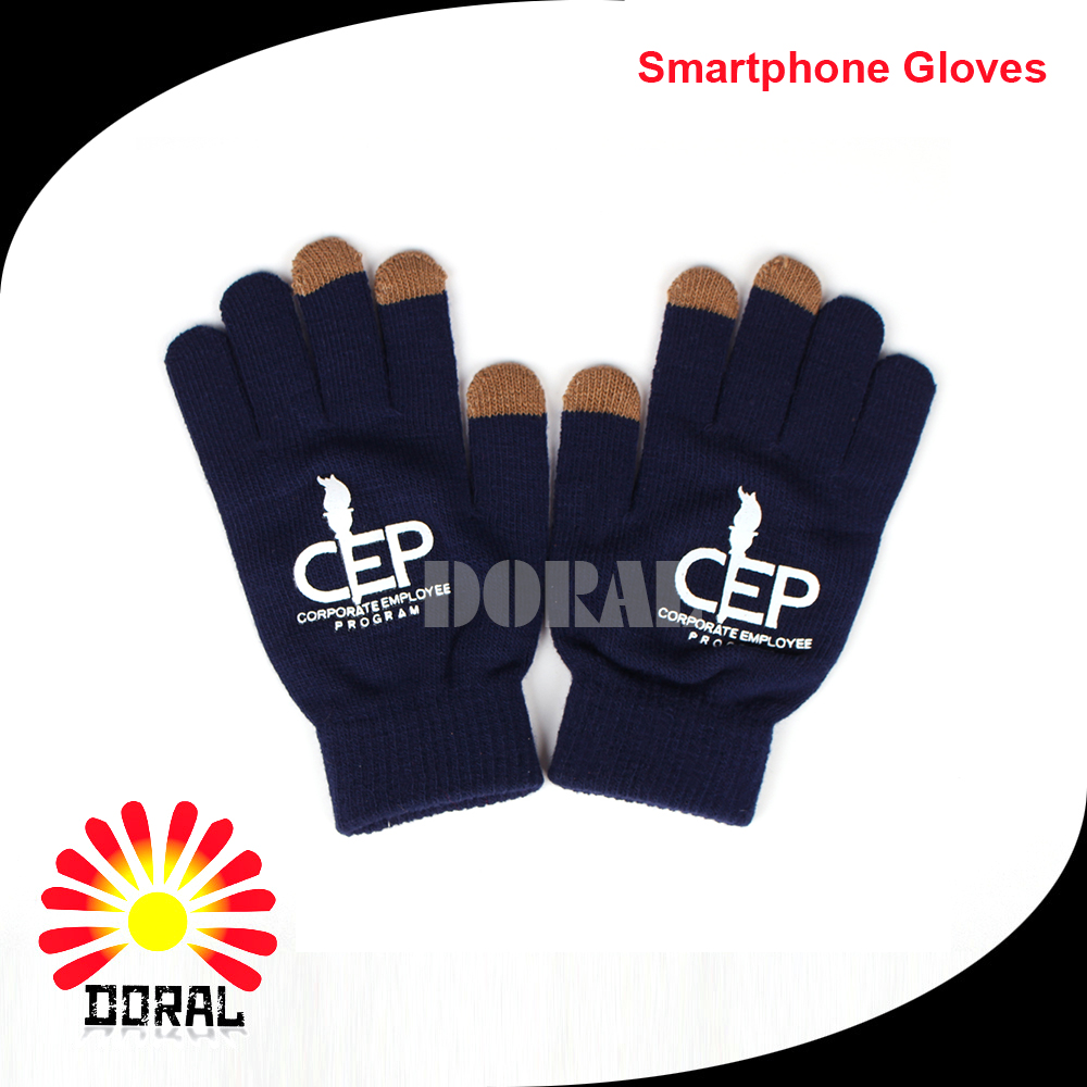 Low MOQ Customized Smartphone Conductive Fiber Touch Screen Gloves