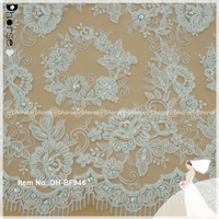 High quality wedding embroidery hand beaded lace fabric for dress