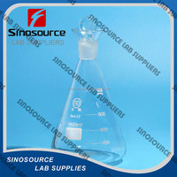 laboratory glass iodine flask with ground-in glass stopper