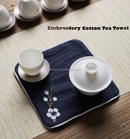 Promotional Kitchen Accessories 100% Chinoiserie Chinese Style Cotton Tea Towels