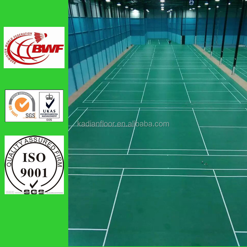BWF approved synthetic badminton court flooring