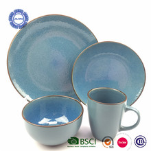 Hotsale dinnerware 16 pieces color glaze household wares