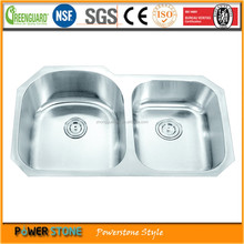 Modern Double Bowl Top Mount Stainless Steel Kitchen Sinks