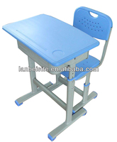 2014 new design popular smart feature Student wood metal study desk and chair for school or meeting