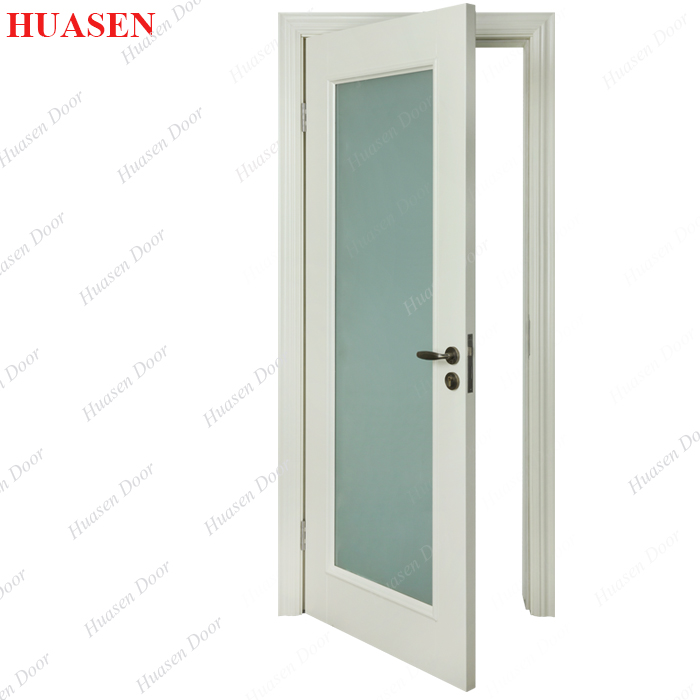 White Frosted Glass Interior Kitchen Entry Doors