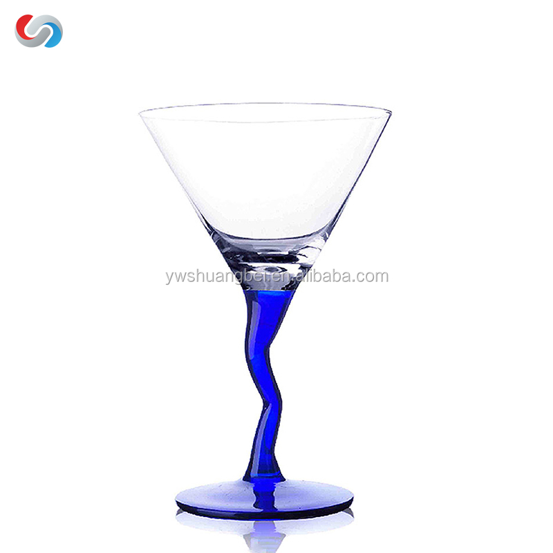 Hot Sale Crystal Margarita Martini Glasses With Twist Stem