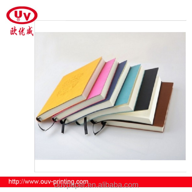2017 Gift PU leather notebook ,embossing leather book cover made in China