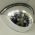 Half dome mirror in convex mirror