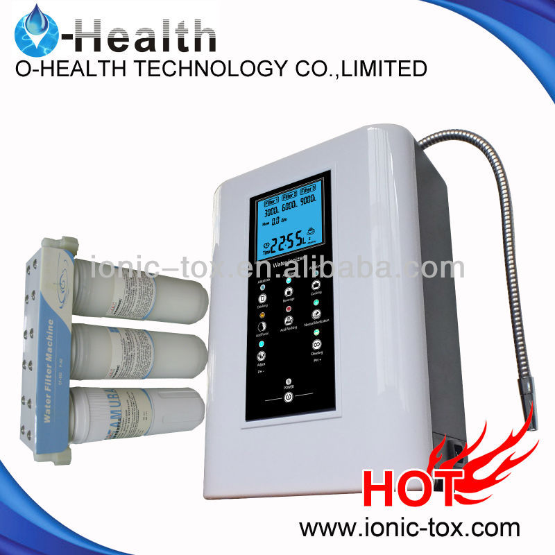 Latest aok-909 alkaline mineral water ionizer with heating function change your drinking style.