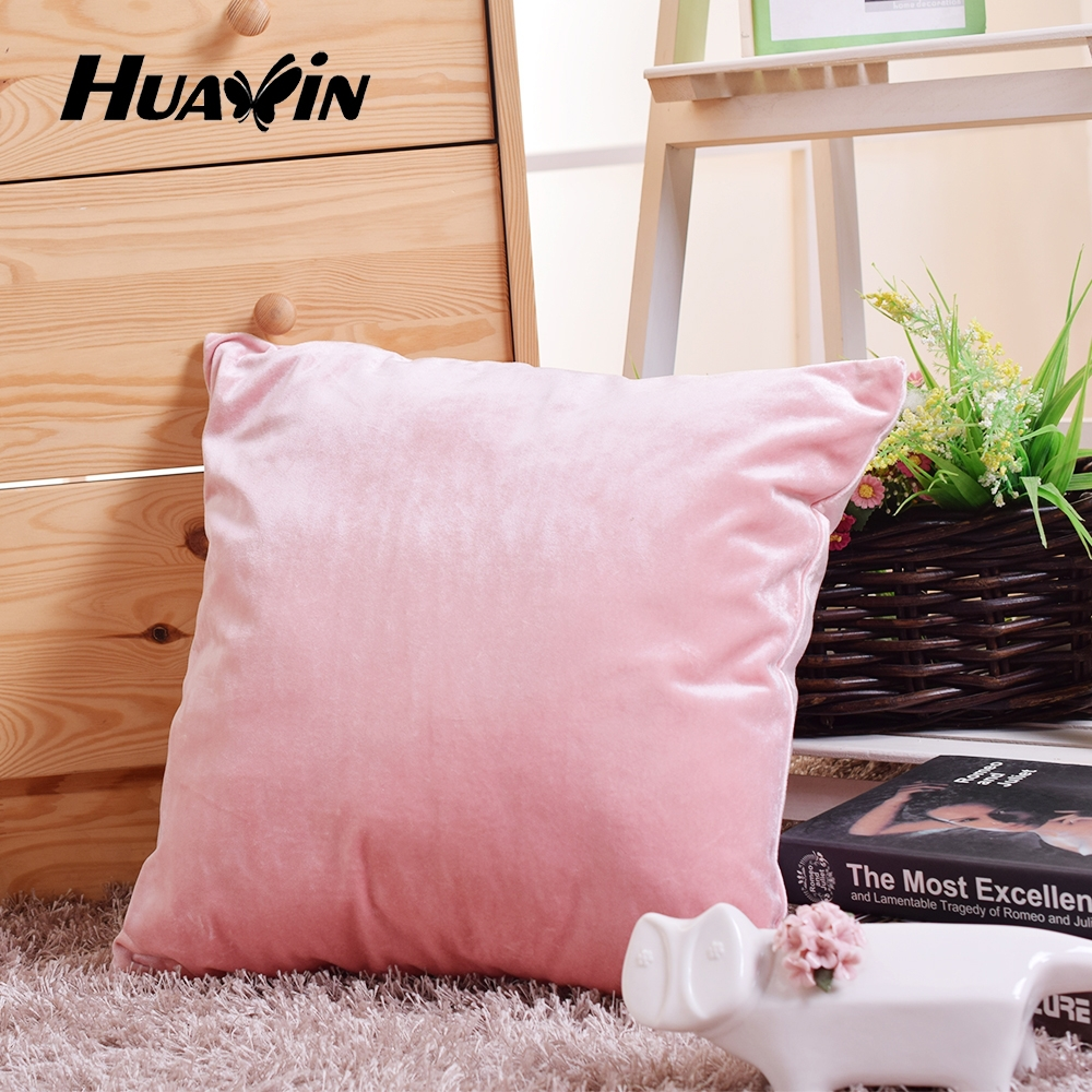 Manufacturer of plush Flannel cover polyester filling sofa cushion