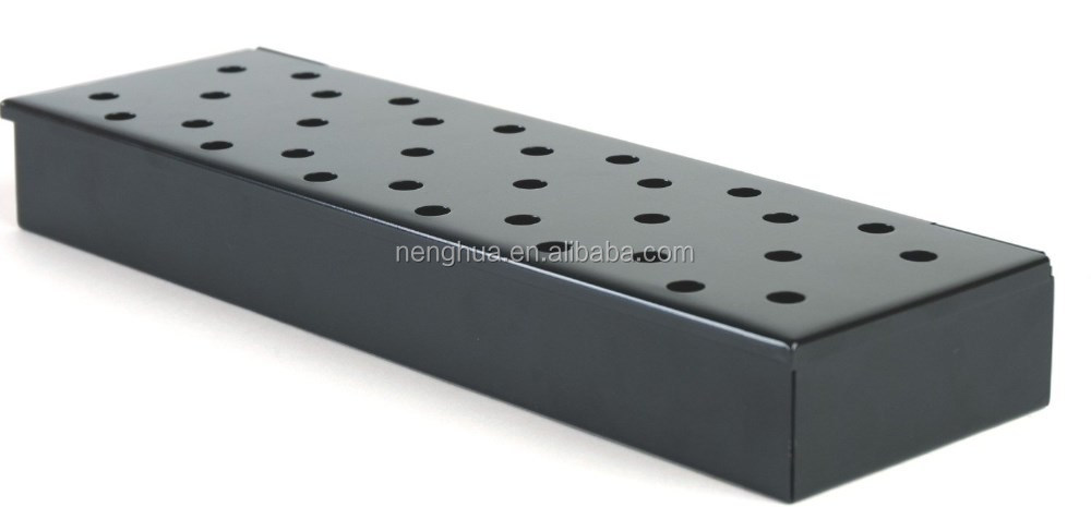 Nonstick Large Smoker Box with Hinged Lid