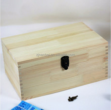 Natural color unfinished customized small wooden box