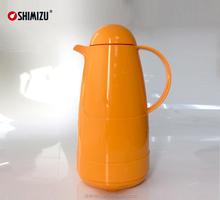 1.0L plastic vacuum coffee / tea pot thermos with glass liner