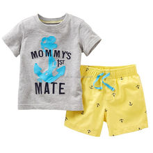 C23169B child boy summer tops clothes sets shorts clothing sets for boys ( Pre-Order )