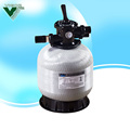 Fiberglass wholesale swimming pool sand filter with top mounted 6 position valve