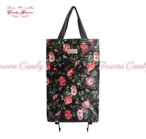 Fashion Foldable Cheap Shopping Trolley Large Travel Bag