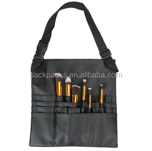 Makeup Brush Bag 18 Pockets Artist Brush Apron Belt Strap Bag Case Belt Strap Holder Makeup Tool Cosmetic Case