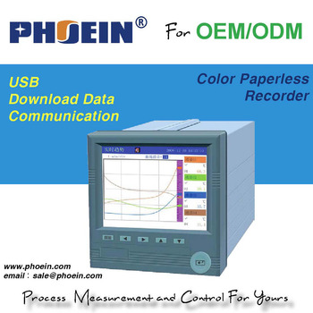 12 channels color paperless recorder