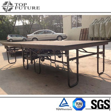 2015 hot sale aluminum plywood deck folding stage