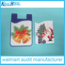 new christmas promotional gift 3m sticker smartphone card holder wallet