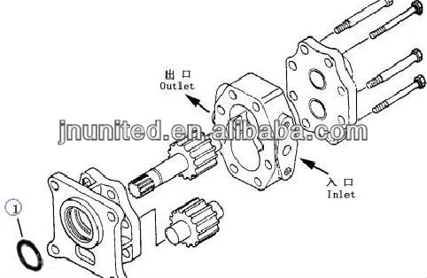 Shantui Bulldozer SD13 Transmission Pump 10Y-75-12000