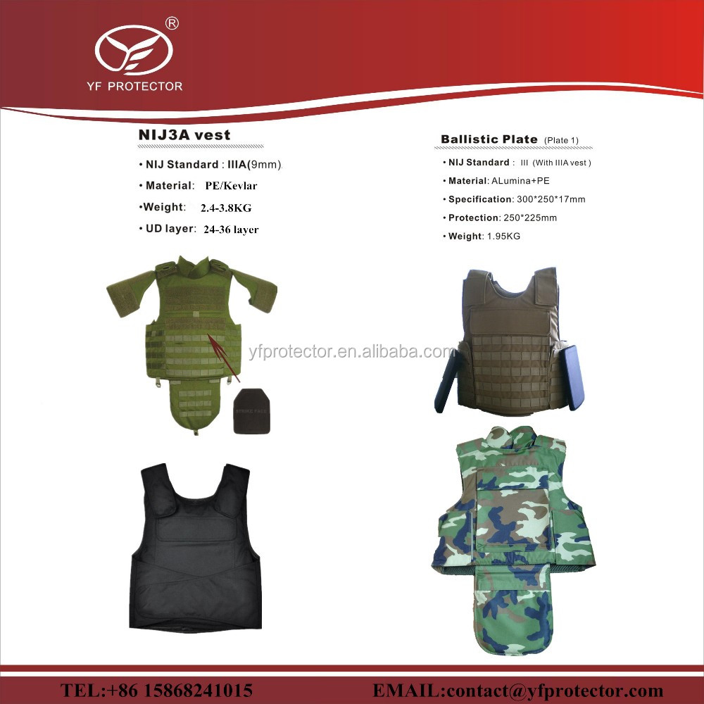 hot seller bulletproof jactet/kevlar/PE bulletproof jacket/bulletproof jacket with trauma pad