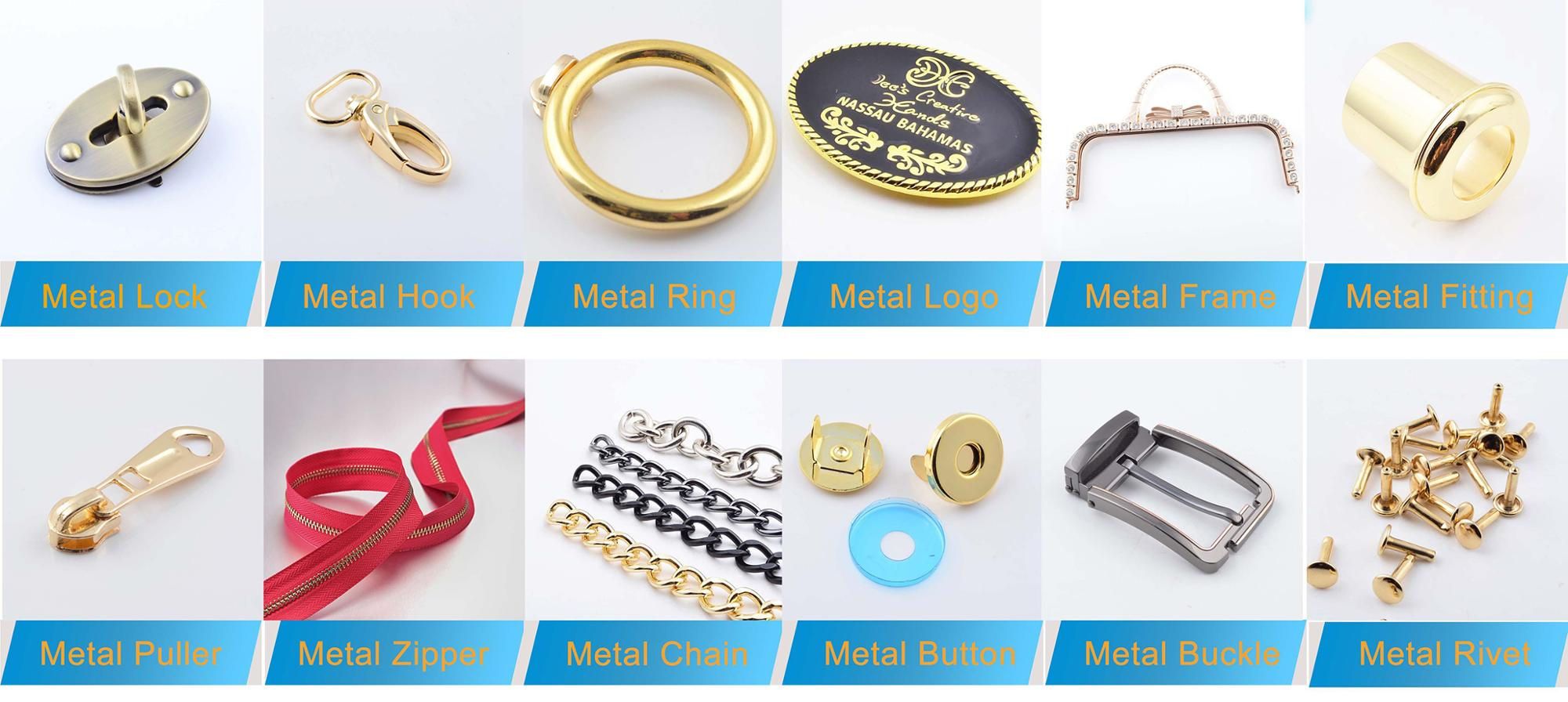 New design fashion bag making accessories market in guangzhou for lock accessories