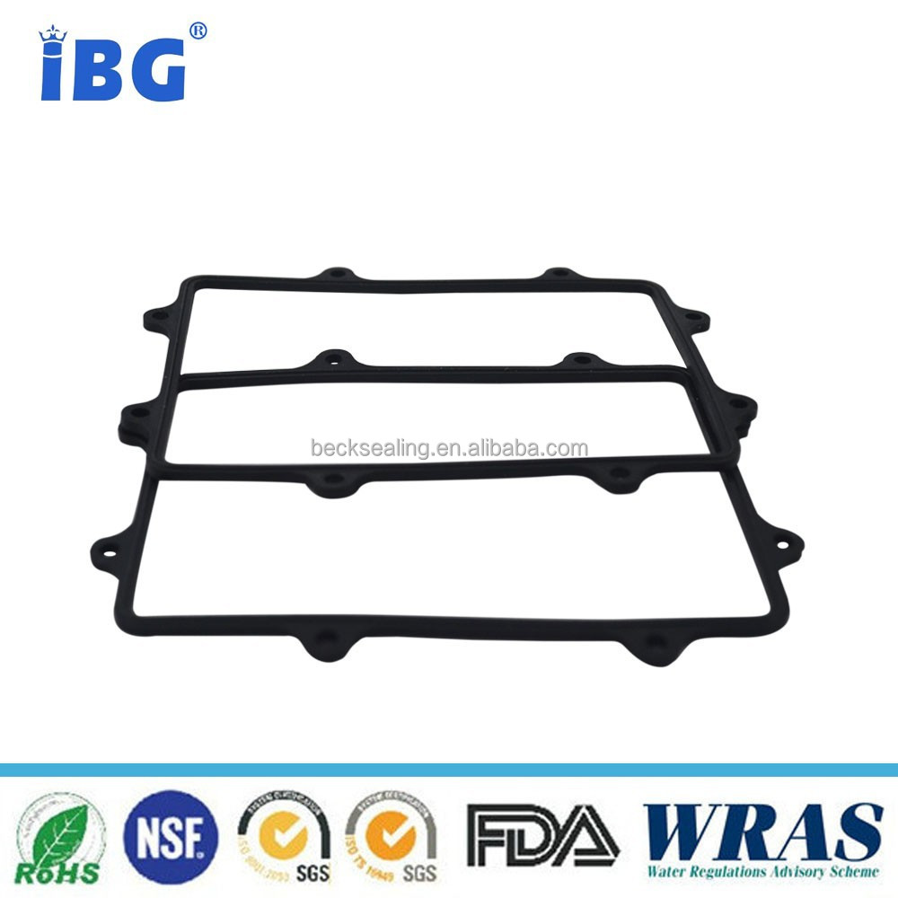 Black color Abrasion Resistance 80SHA NBR Rubber gasker / washer
