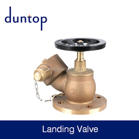 brass fire hydrant landing valve with flange for fire fighting from sea board
