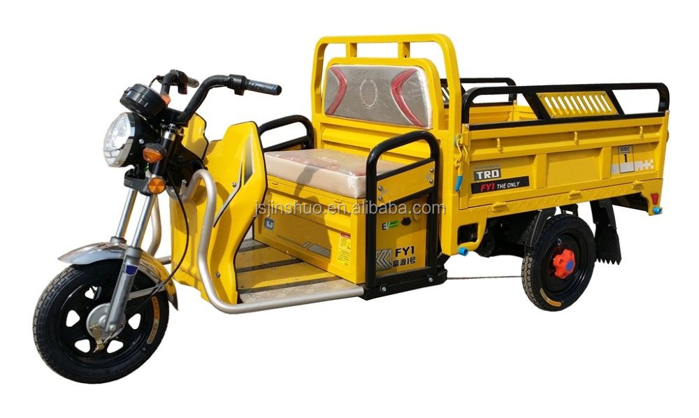 Motor Power 500W-1000W Electric Cargo Tricycle / Low Price Cargo Loader