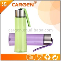 Colorful bpa free plastic strap water bottle