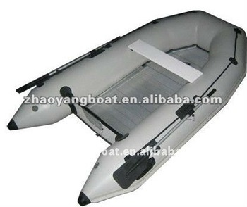 (CE) PVC Material Optional Floor And Color Foldable Inflatable Boat