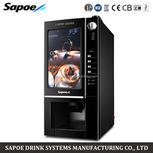 2 drinks automatic commercial coin operated european coffee vending machine