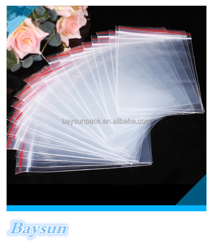 Reclosable ziplock bags /Clear self zipper bag /Plastic sealing Bag