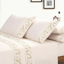 KOSMOS Embroidery Pillowcase Microfiber 4 pieces fitted sheet bed sheets Set