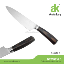 FDA Certification Professional 8 Inch Chef's Knife, High Carbon Stainless Steel 7cr17mov blade with Primary pakka wood