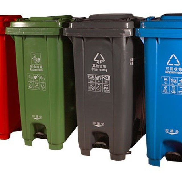 Extra strength pedal dust bin / EN840 pedal rubbish container 120L