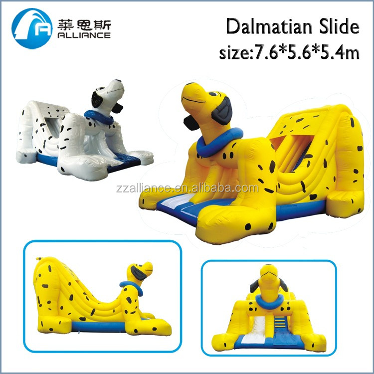factory supply removable 7.6*5.6*5.4m dog <strong>slide</strong> amusement park large inflatable <strong>slide</strong> for kids