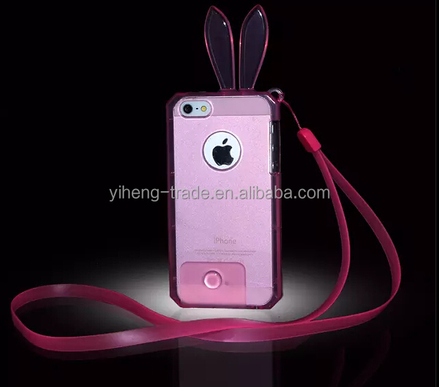 Hot Sale TPU Lovely Cute Rabbit Case High Quality Fashion case For iphone 5 5S Cell Phone Case Luxury For iphone5