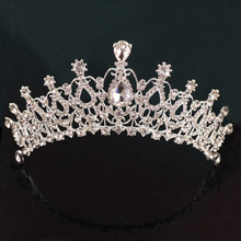 Europe and the United States Noble Luxury <strong>Crown</strong> For Bride Wedding Diamond Headband Baroque Hair <strong>Crown</strong> Bride Headdress