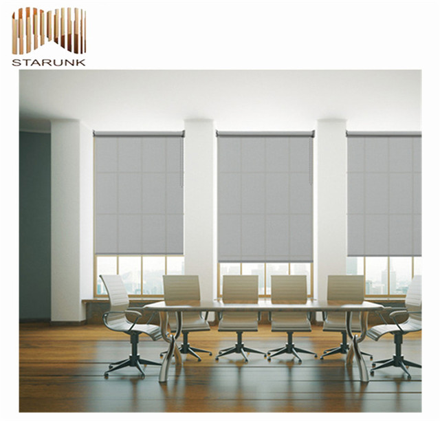 best price blackout lace pleated window roller blind fabric