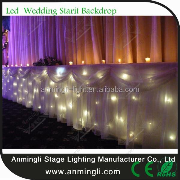Warm White Led Shower Curtain For Garden Wedding Decoration