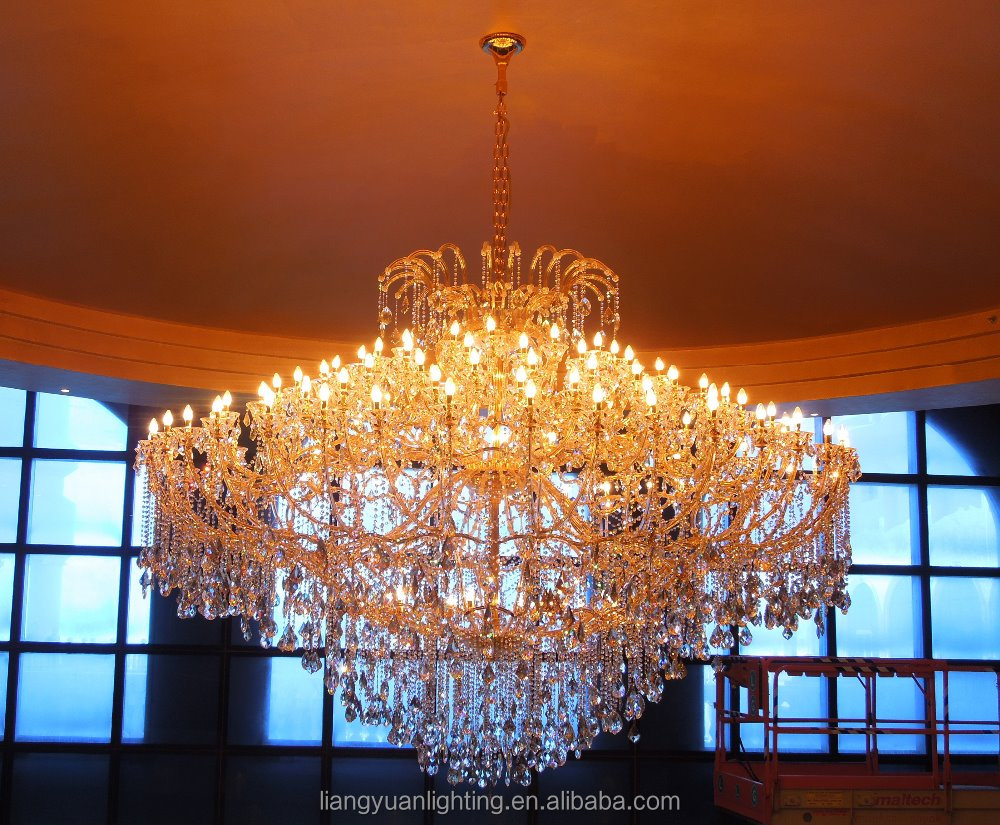 Clear K9 Crystal Lobby Chandelier For Hotel