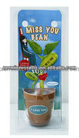 Magic message bean in a blister card pot for promotion item