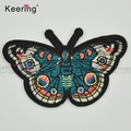 High quality butterfly with iron backing personalized embroidery patch for saree clothing WEF-348