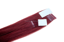 Cheap synthetic remy human tape hair extension