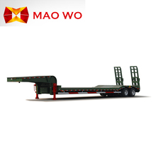 Multi axle hydraulic low bed trailer for carrying crane, excavator, tractor