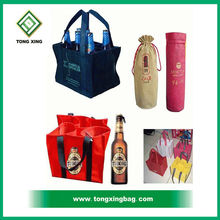 Fashion Promotional Non woven Cotton Wine Gift Tote Bag